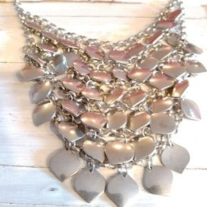 Jewelry - Vintage Signed Hallmarked Necklace Silver Tone
